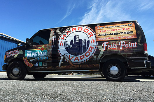 Harbor Vapor Vehicle Wrap - Absolute Perfection Vehicle Wrapping - Balitmore Maryland