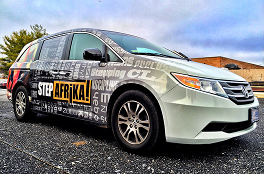 Step Afrika Vehicle Wrap - Absolute Perfection Vehicle Wrapping - Sykesville Maryland