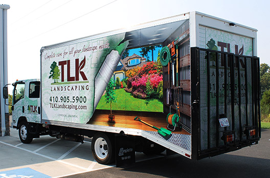 TLK Landscaping Advertising Vehicle Wrap - Absolute Perfection - Baltimore Maryland