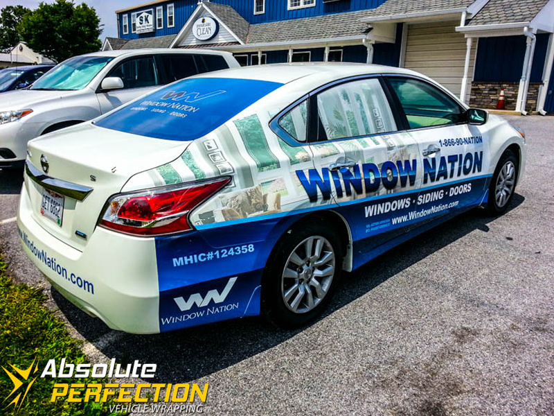 Window nation fleet vehicle wrapping for Window nation
