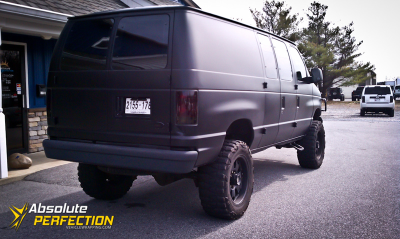 Matte Black Express Van Matte Car Wraps