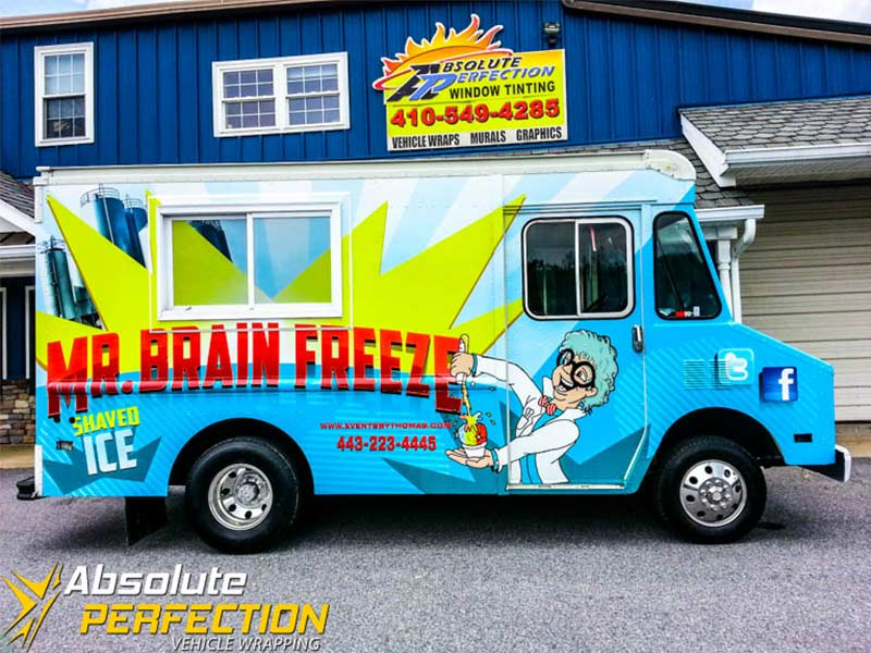 Amorini panini food truck wrap vehicle wrapping for Food truck design software