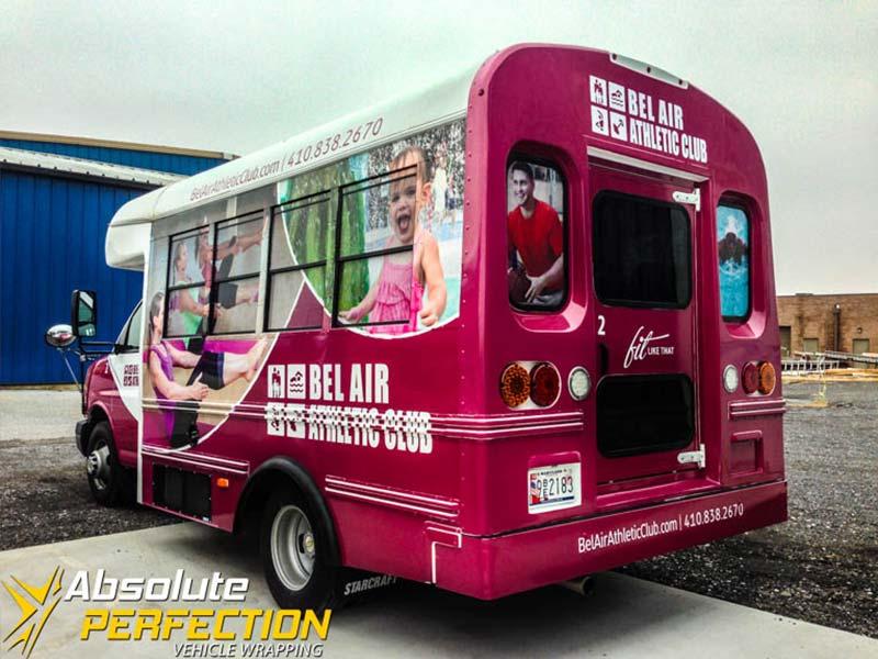 Bel Air Athletic Club Bus Wraps Harford County