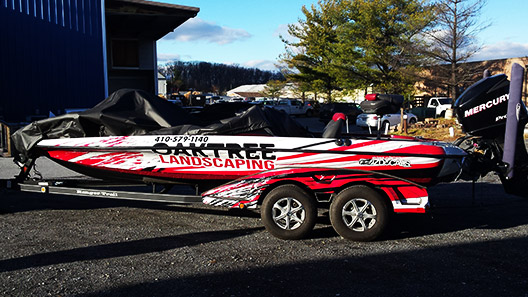 Oak Tree Landscaping Boat Wrap - Absolute Perfection2