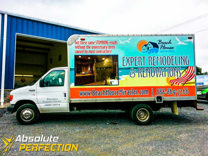 Vehicle Decals - Box Truck Wrap - Absolute Perfection
