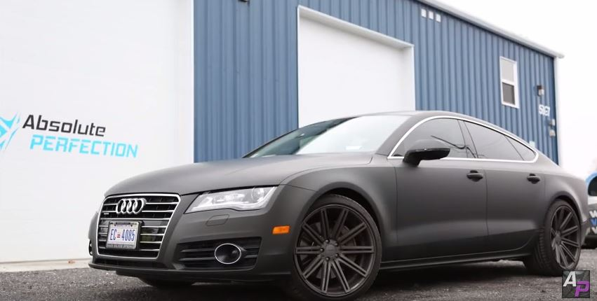Audi A7 Matte Black Wrap Vehicle Wrapping