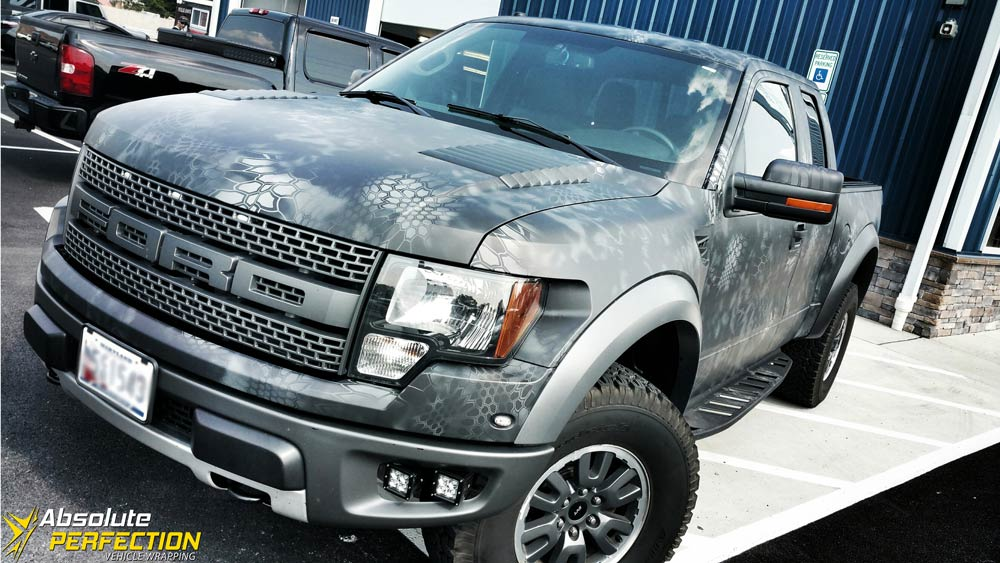 Ford Raptor Matte Camo Wrap Ap Vehicle Wrapping