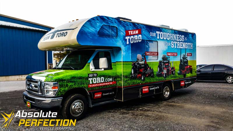 Toro Rv And Trailer Fleet Wrap Vehicle Wrapping