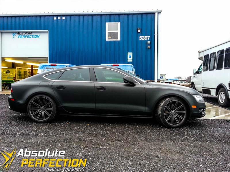 Matte Black Audi A7 Wrap Absolute Perfection