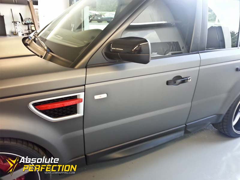 Matte Dark Grey Range Rover Wrap
