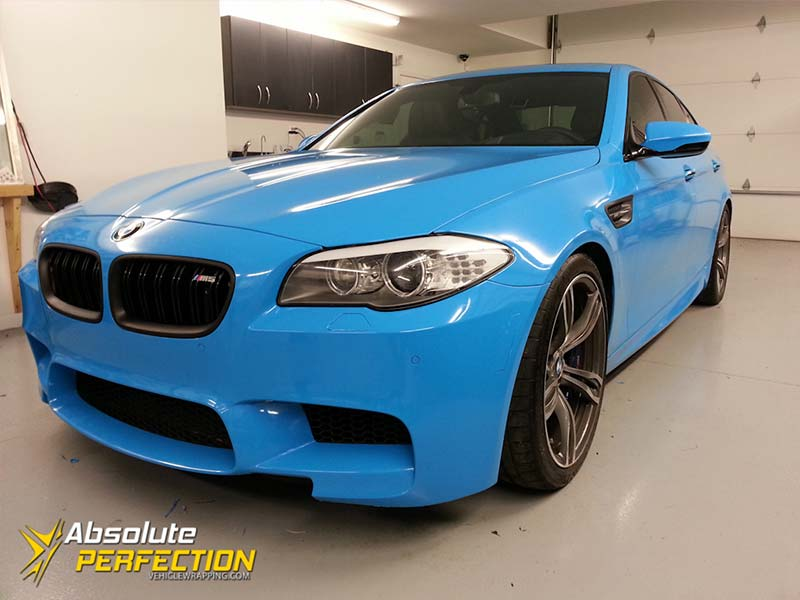 Bmw M5 Riviera Blue Wrap Absolute Perfection