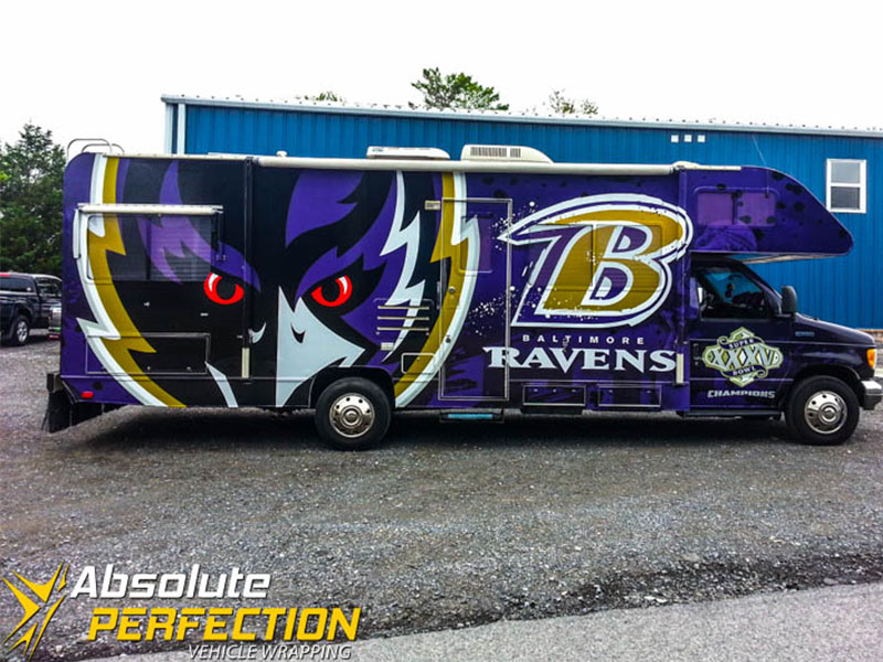 Baltimore Ravens RV Custom Vehicle Wrap