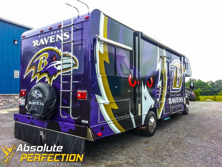 Baltimore Ravens Rv Vehicle Wrap Vehicle Wrapping