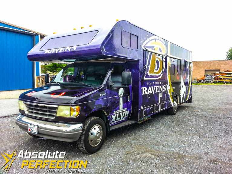 Baltimore Ravens Rv Vehicle Wrap Vehicle Wrapping