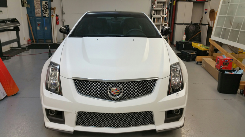 Matte White Cadillac Vehicle Wrap Absolute Perfection
