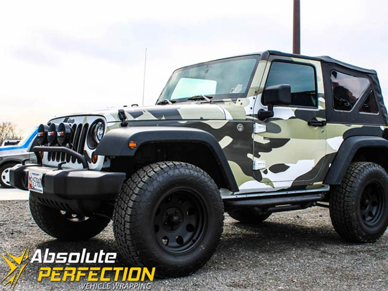 Camo Jeep Wrangler Absolute Perfection Vehicle Wrapping