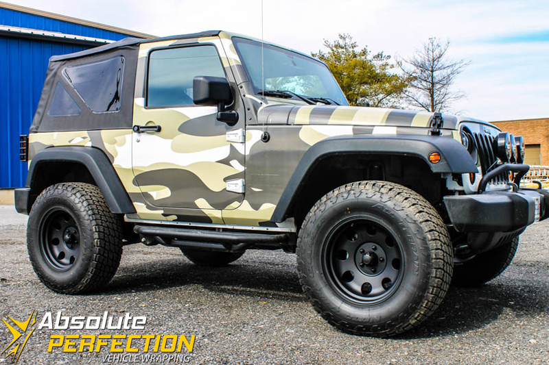 Camo Jeep Vehicle Wrap Absolute Perfection Baltimore Md