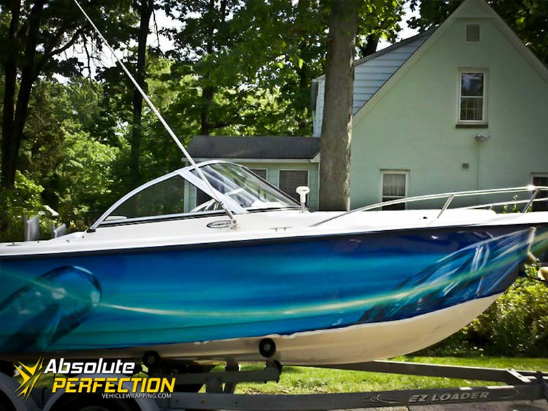 Custom Graphics - Boat Wrap - Absolute Perfection2