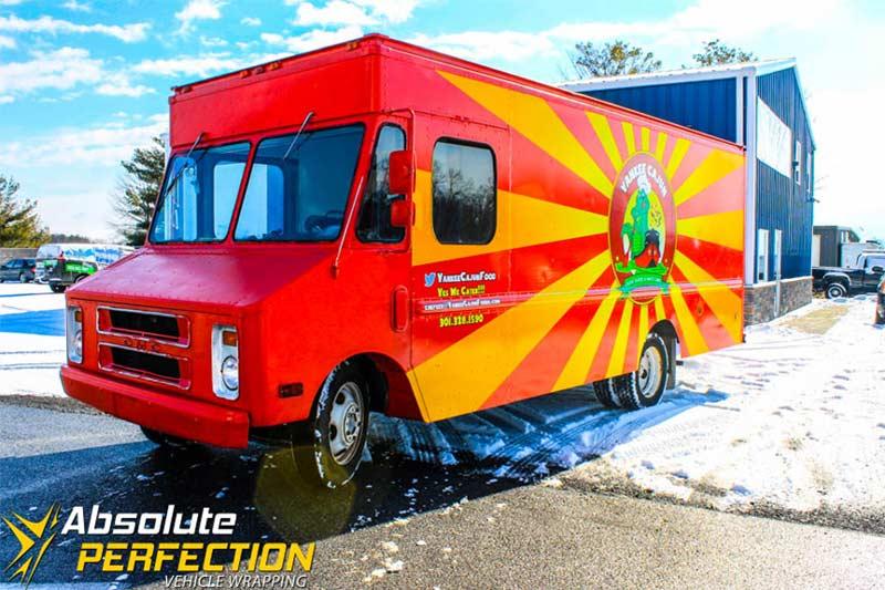 Yankee Cajun Food Truck Wrap Laurel Maryland