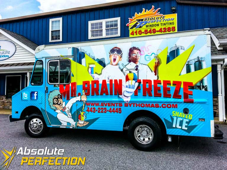 Mr Brain Freeze Food Truck Wrap Harford County