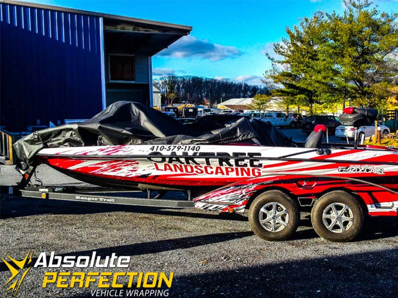 Oak Tree Landscaping Boat Wrap Absolute Perfection