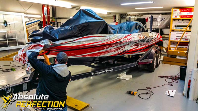 Boat Wrap Collaboration Vehicle Wrapping