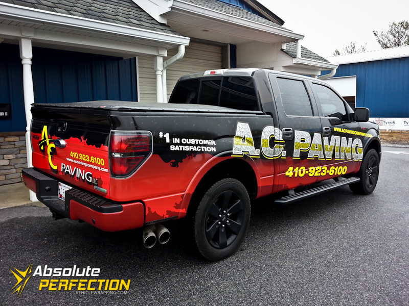 Ac Paving Pickup Truck Wrap Annapolis Maryland Vehicle