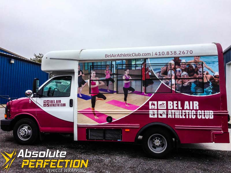 Bel Air Athletic Club Bus Wraps Harford County