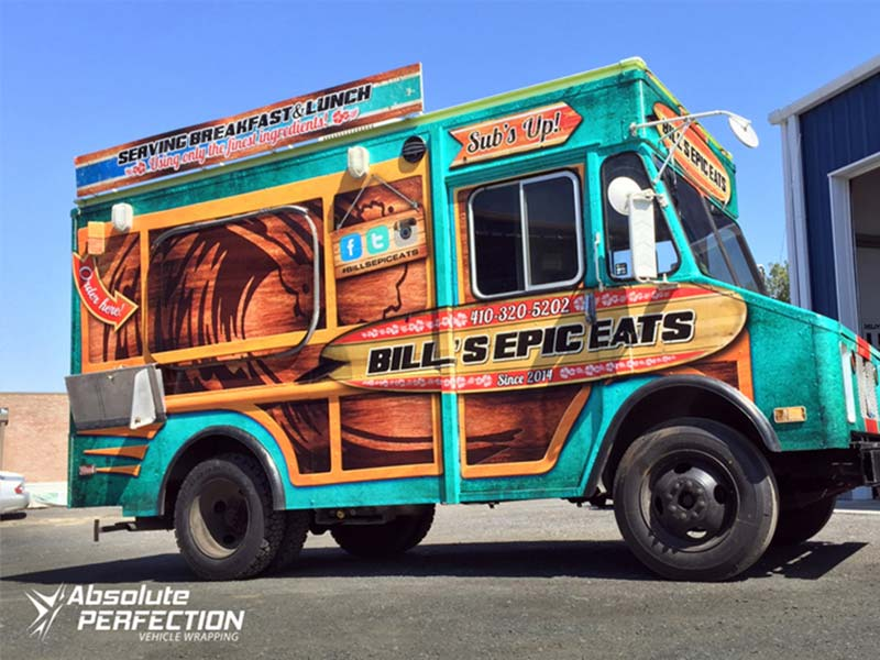 Bills Epic Eats Food Truck Wrap Annapolis Maryland