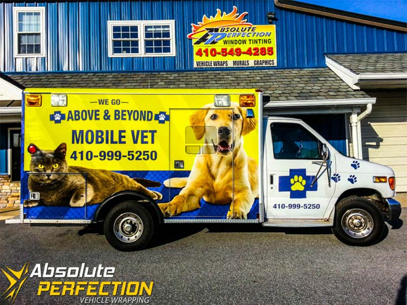 Above Amp Beyond Mobile Vet Vehicle Wrapping