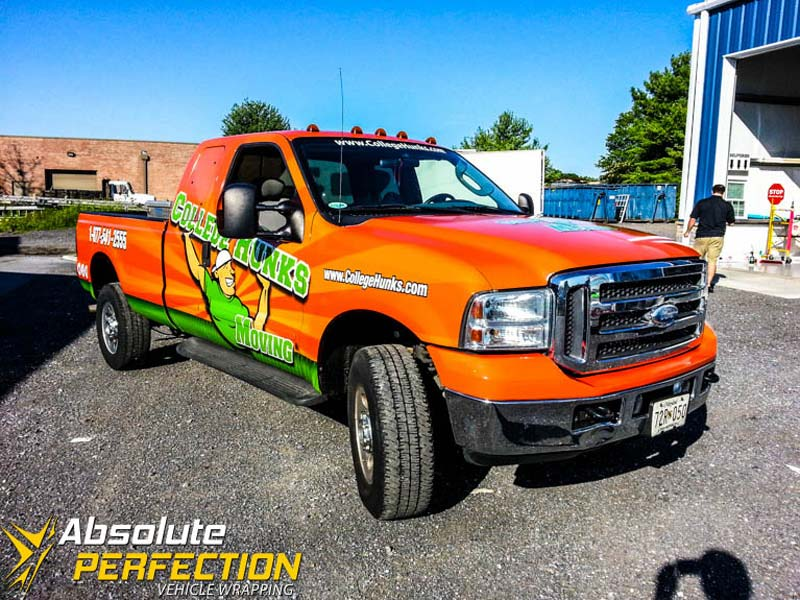 College Hunks Hauling Junk Pickup Truck Wrap Baltimore