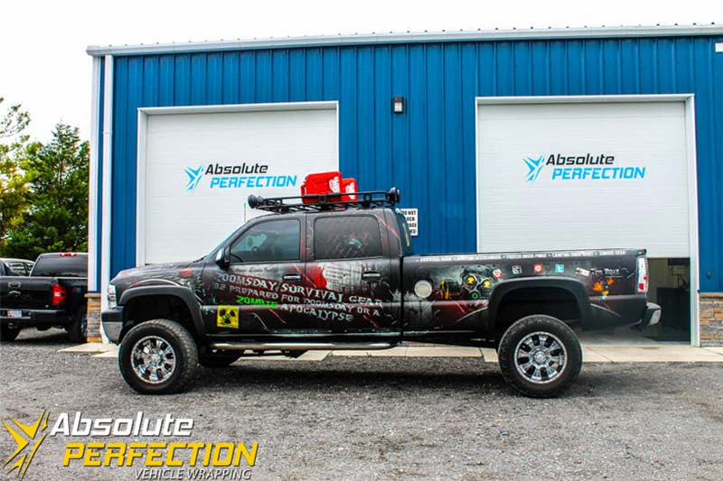Zombie Apocalypse Truck Wrap Vehicle Wrapping