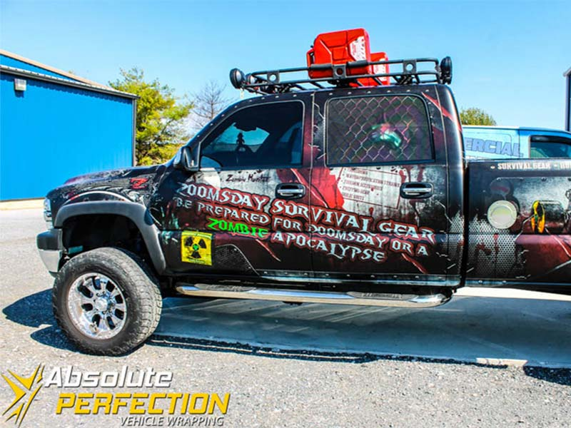 Zoomsday Survival Gear Zombie Apocalypse Truck Vehicle Wrap4 (2)