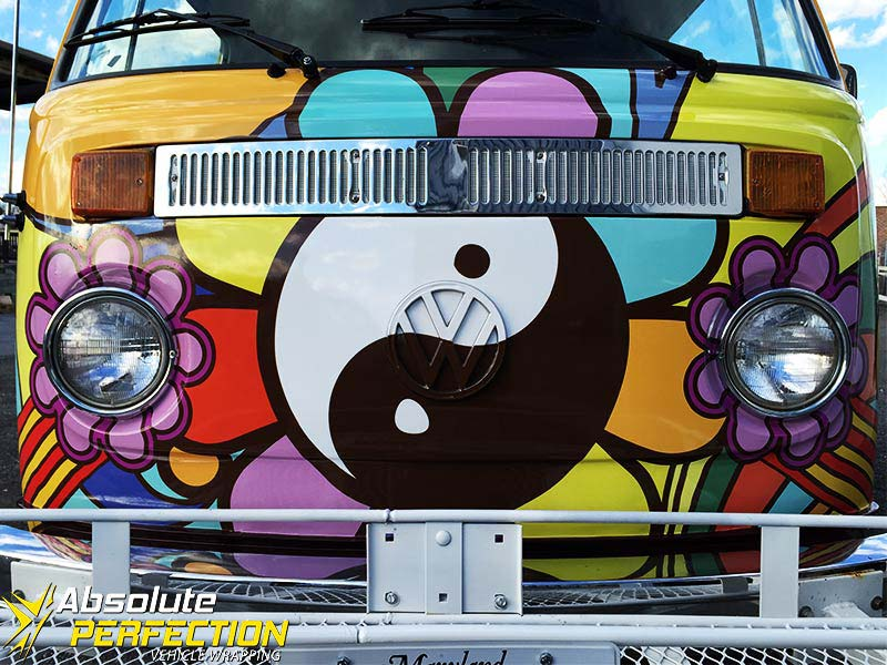 1973 Volkswagen Automatic Yellow Submarine Vehicle Wrap Absolute Perfection1
