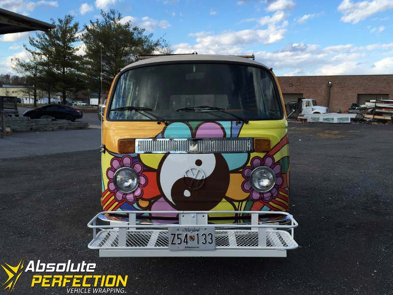 1973 Volkswagen Automatic Yellow Submarine Vehicle Wrap Absolute Perfection2