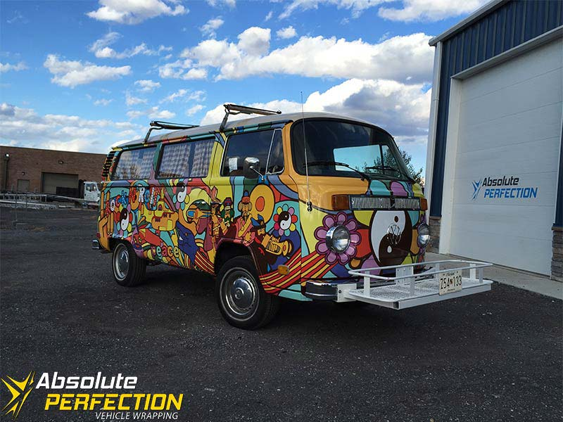 1973 Volkswagen Automatic Yellow Submarine Vehicle Wrap Absolute Perfection3