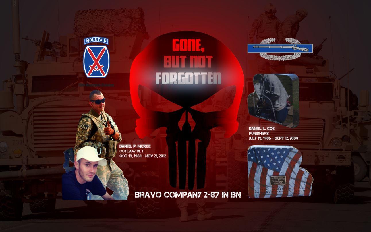 Bravo Company 2-87 IN BN Daniel McKee Daniel Cox Casey Eckhoff