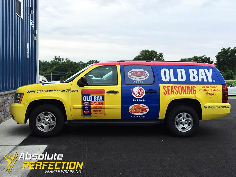 Old Bay Vehicle Wrap Absolute Perfection Sykesville Maryland