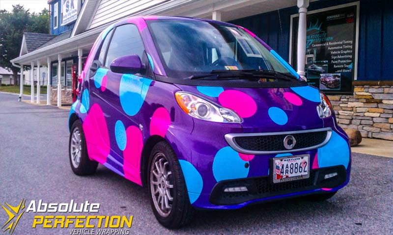 Polka Dot Smart Car Montgomery County Maryland