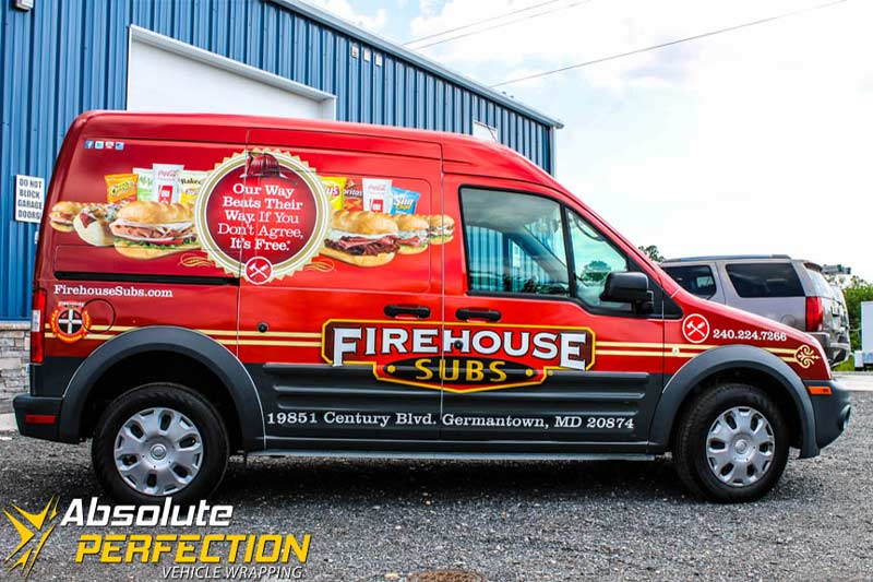 Firehouse Subs Transit Vehicle Wrapping - Vinyl graphics for cars