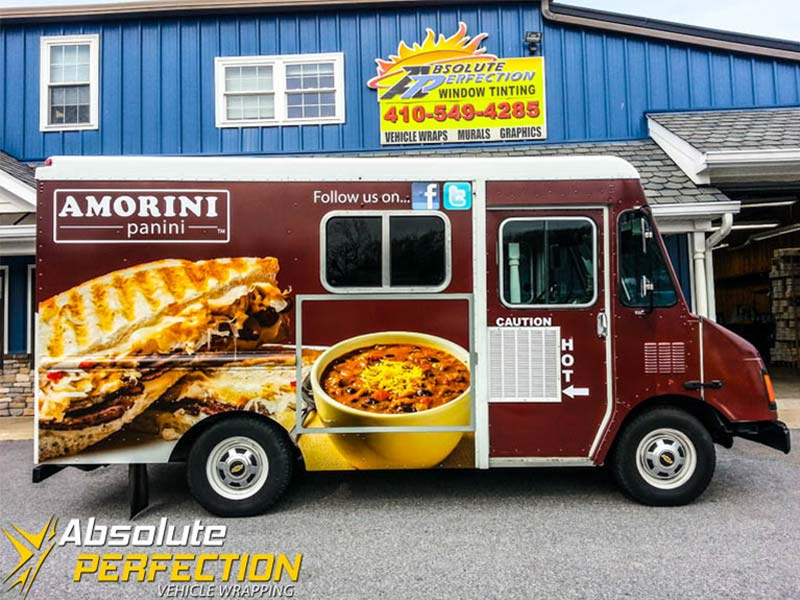 Amorini Panini Food Truck Wrap Vehicle Wrapping
