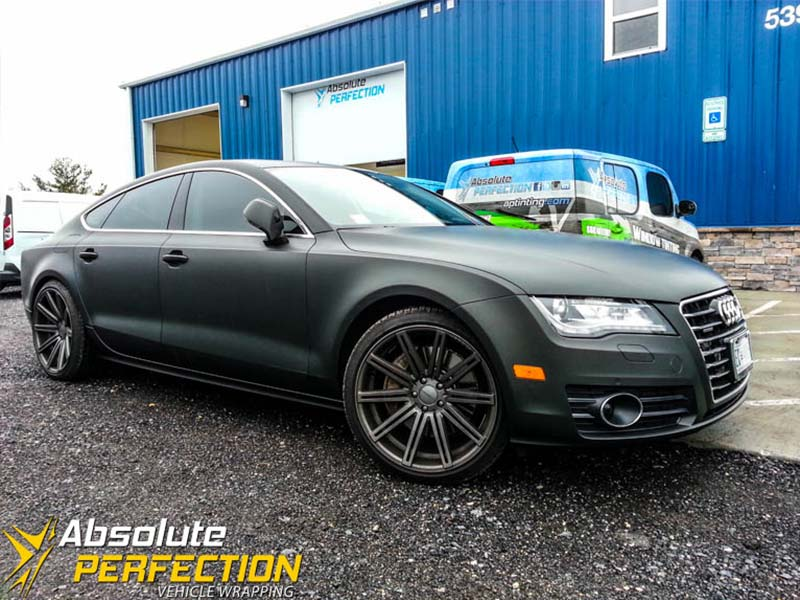 Matte Black Audi A7 Wrap Absolute Perfection