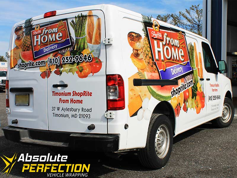 vehicle wraps, vinyl graphics, vehicle graphics, car wrapping, vehicle wrapping, baltimore, washington dc, maryland, shop rite3