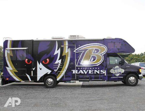 Baltimore Ravens RV Vehicle Wrap