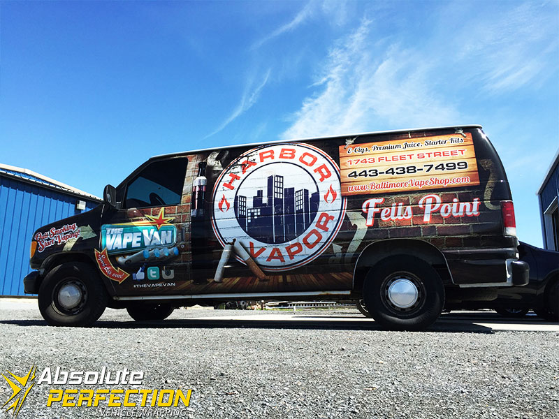 Harbor Vapor - Absolute Perfection Vehicle Wrapping - Fells Point Baltimore