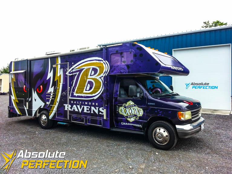 Baltimore Ravens RV Custom Vehicle Wrap