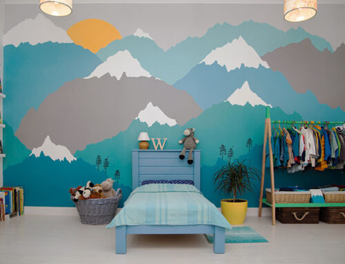 Installing a Wall Mural for a Child's Bedroom