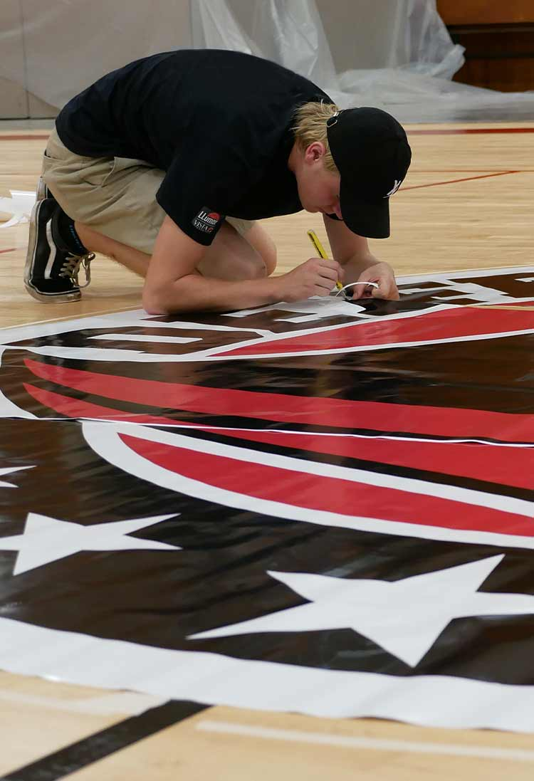 Floor Graphics Installation