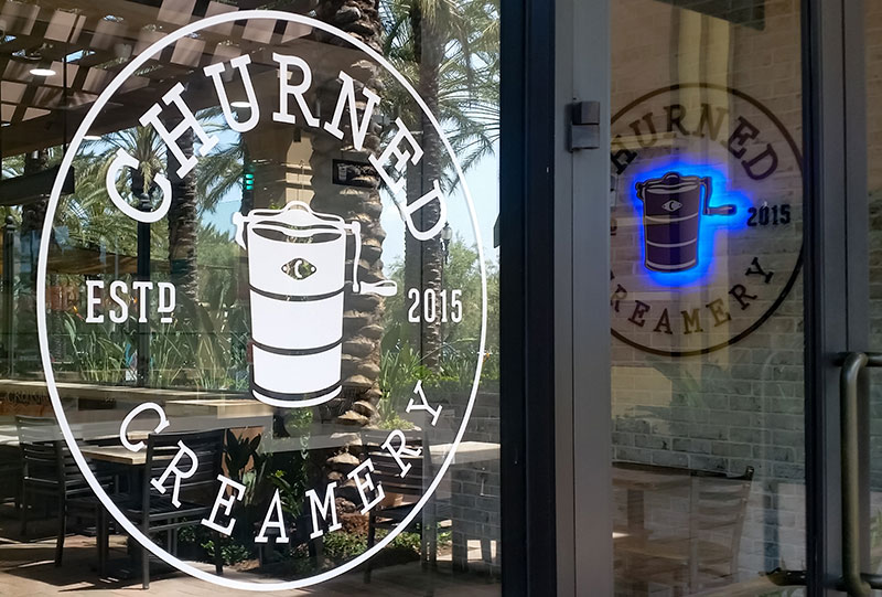 Storefront lettering and signage services