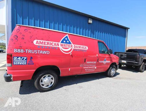 American Water Damage Advertising Wrap